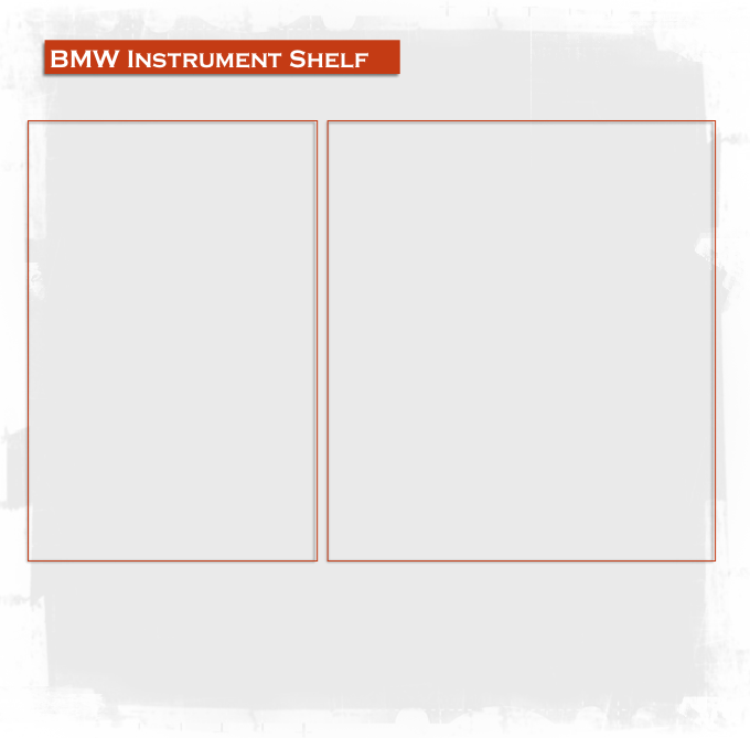 BMW Instrument Shelf